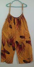 New XL Nigerian Sleeveless Full Length Split Skirt/Dress/Jumper Africa OrangeRed