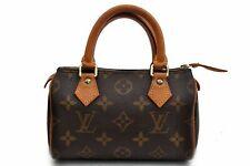 Authentic Louis Vuitton Monogram Mini Speedy Hand Bag M41534 LV 93345