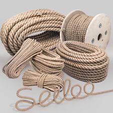 JUTESEIL 6mm bis 60mm Tau Seil Jute Seil Tauziehen Tauwerk Naturhanf Jute Rope