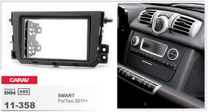 br452 adaptador ISO diafragma antracita Kenwood kdc-x5100bt radio smart roadster