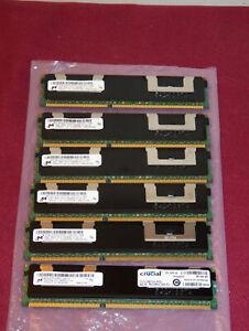 Micron Registered DDR3 PC3-10600R 24GB Kit (6x4GB) MT36JSZF51272PZ-1G4F1DD