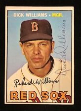 DICK WILLIAMS 1967 TOPPS AUTOGRAPHED SIGNED AUTO BASEBALL CARD 161 RED SOX