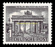 EBS West Berlin 1949 Berlin Buildings (I) - Brandenburg Gate Michel 42 MNH**