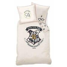 Harry Potter Poudlard - Parure de Lit Enfant Blason - Housse de Couette Coton
