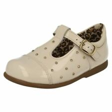 Princess Leather Upper Shoes for Girls Buckle