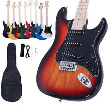 New 8 Colors School Band Right Handed Electric Guitar w/Bag & Accessories