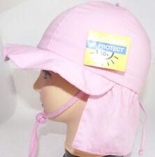 UV Schutz KU47 48 49 50 52 53 BINDEN NACKENSCHUTZ Sommer Sonnen Hut Mädchen rosa