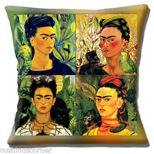 "Frida Kahlo Cushion Cover 16""x16"" 40cm Vintage Retro Mexican Folklore Collage"