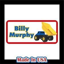 42 Personalized Waterproof Truck Name Labels Stickers Tag Kids School Shoes Hat