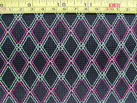 1Yard Amplifier Antique Diamond Grill Cloth Fabric Black & Red/Yellow/Green