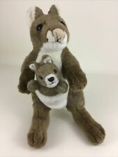 "K&M Kangaroo Mom and Baby Joey Plush Stuffed Animal Toy Vintage 12"" Marsupial"