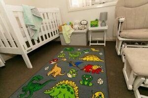 New Children's Rug Playmat Activity Play Mat Dinosaurs 100cm x 150cm
