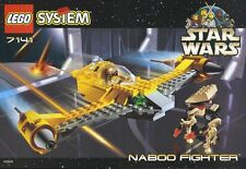 LEGO STAR WARS 'NABOO FIGHTER' 7141 FROM 1999 1ST EDN 100% COMPLETE GUARANTEE