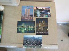 """TWIN TOWER WORLD TRADE CENTER """" POST CARD """" GREETINGS FROM THE NEW YORK CITY"""