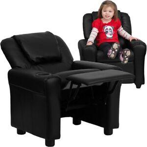 Flash Furniture Black Kids Recliner, Black - DG-ULT-KID-BK-GG