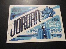 INDIANA JONES Art 4X6 Postcard JORDAN Last Crusade poster print ryan brinkerhoff