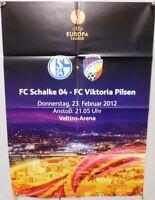 Offizielles Spielplakat + 23.02.2012 + EL + FC Schalke 04 vs. Viktoria Pilsen #4