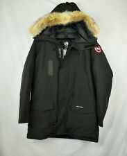 New NWD Canada Goose Mens LangfordParka Coat Size XL Black Coyote Fur Long Slim