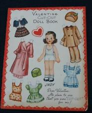 Vintage Valentine Cut Out Doll Book Fold-Out 4 Dolls with Clothes Uncut