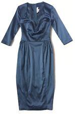 Deadly Dames by Micheline Pitt Women's Dress, Size XS, Black, 3/4 Sleeves, Knees