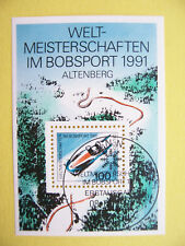 Block  23  ESST Bonn ,BRD 1991, Bobsport-WM Altenberg