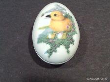 Franklin Porcelain Easter 1983 Collector Egg / Trinket Box