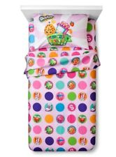 Shopkins Food Character Teal Microfiber 3 Piece Twin Sheet Set NIP