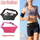 Running Hiking Sport Bum Bag Travel Phone Money Fanny Pack Waist Belt Zip Pouch