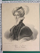 c1830 GEORGIAN PRINT ~ MARIE AMELIE QUEEN OF FRANCIS