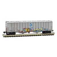 Archer Daniels Midland Airslide Hopper Weathered & Graffiti MTL#09851110 N-Scale