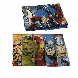 Marvel Avengers Shield Single Reversible Duvet Cover Bedding Set +1 Pillow Good.