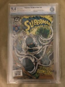 Superman: Man of Steel #18 -NEAR MINT- CBCS 9.4 - DC 1992 - 1st Doomsday