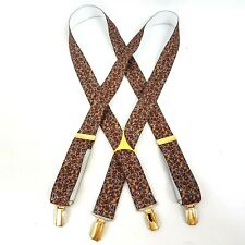Gold Paisley Braces Elasticated Suspenders Gold Clip Hardware One Size