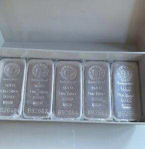 Argor Heraeus 1 kg  Certified Silver Bar AG 999.0 - Lingotto argento puro