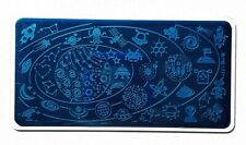 Nail Art Stamping Outer Space Star Moon Theme DIY Manicure Image Plate L039