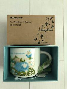 Disney World Starbucks Ceramic Mug Ornament Magic Kingdom Retired Sold Out! NEW