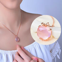 Fashion Charm Jewelry Crystal Apple Pendant Chain Women Charming Necklace