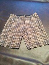 Hurley Phantom Board shorts (Size 32) Brown Plaid Free Shipping
