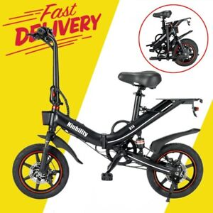 14 Zoll Falten Elektrofahrrad Power Assist E-Bike Scooter 36V 400W Motor 25km/h