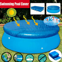 10ft Round Above Ground Swimming Pool Cover Tarp Easy Fast Set Rope For Intex