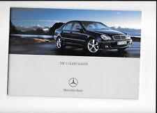 MERCEDES BENZ C-CLASS SALOON MODELS (AMG & SPORTS) CAR SALES BROCHURE MARCH 2004