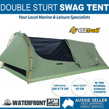 OZtrail Sturt Expedition Swag Double Canvas Bag Camping Hiking Poles Swags Tent