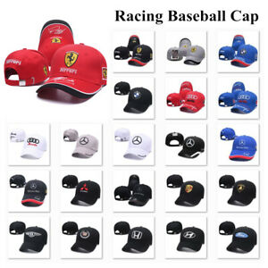Fashion Embroidered Ferrari Baseball Cap Sports Motorcycle Racing Strapback Hat