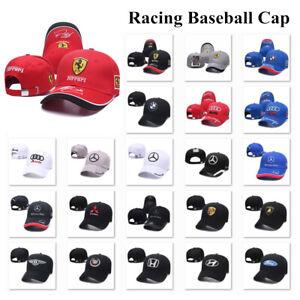 Fashion Embroidered Ferrari Baseball Cap Sports Motorcycle Racing Strapback Hat