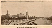 MOSCOU MOSKVA KREMLIN PLACE ROUGE RUSSIE RUSSIA IMAGE 1905 OLD PRINT