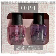 OPI TOP COAT E BASE NATURALE Cappotto Salon Set Regalo 2x15ml