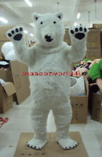 Professional Polar Bear Mascot Costume Fancy Dress Cartoon Suit Adult SIZE
