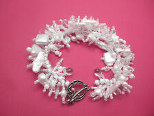 "Bracelet Bead Kit ""Girly Pearls"" Pearls & pressed glass beads. New Fringe Magic"