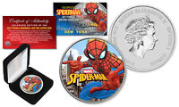 2017 1 oz Silver Tuvalu SPIDERMAN BU Colorized NY Limited of 500 Edition Coin
