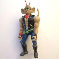 "Vintage Biker Mice From Mars Leader Throttle 5.5"" Action Figure Galoob 1994"